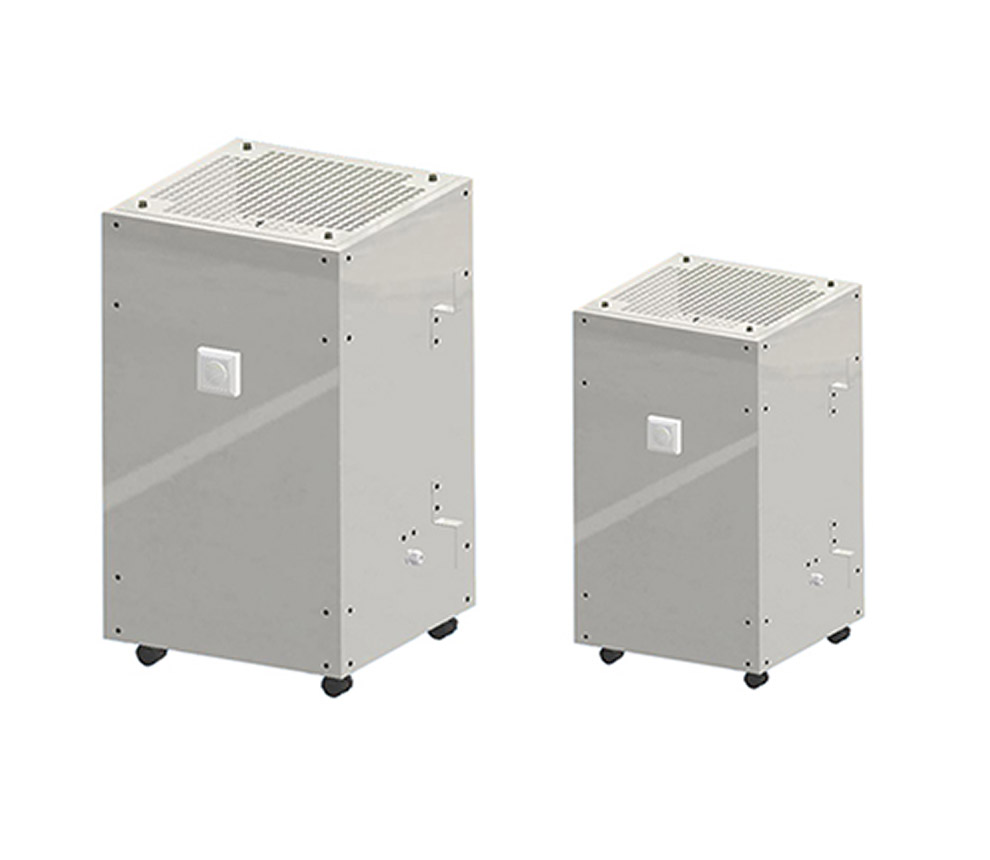 UV-C room air disinfection systems
