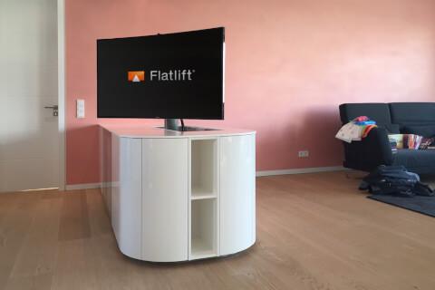 Tv möbel drehbar holz  Fernsehlift - Pop-Up Extraflat TV-Lift Fernsehlift - TV Lift -