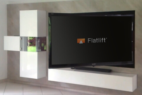 pop up platinum tv lift tv lift. Black Bedroom Furniture Sets. Home Design Ideas