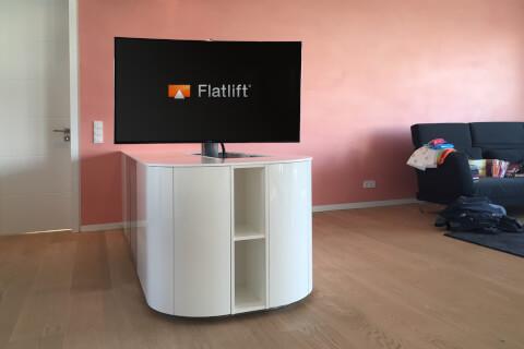 tv lift for furniture integration