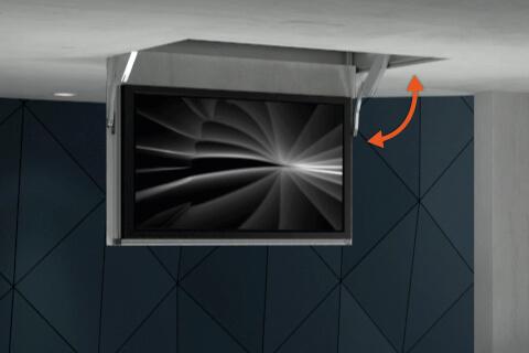 L ve cran ascenseur motoris de tv syst me de levage tv - Support tv motorise plafond ...